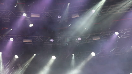 Lighting system on stage