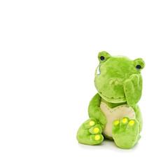kuschtier frosch ist traurig