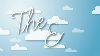 """Animation of a moving clouds with the words """"The End"""" appearing."""