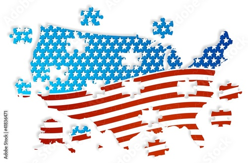 Jigsaw puzzle USA