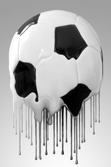 Tropfender Fußball