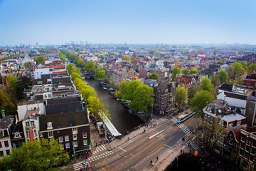 Amsterdam panorama, Holland, Netherlands