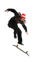 Skateboarder doing a trick