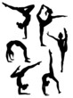 Girls gymnasts silhouettes - 41839248