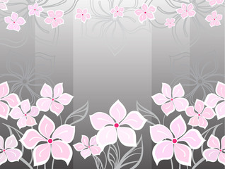 Grey flower background