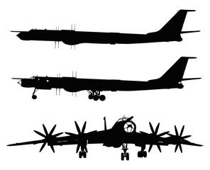 Strategic bomber vector detailed silhouette