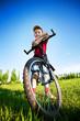 Six year old boy on a bike