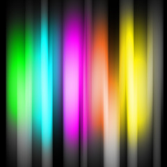 Rainbow abtract background on black background