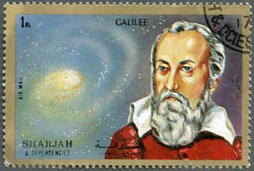 SHARJAH & DEPENDENCIES - 1972: shows Galileo Galilei (1564-1642)