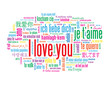 """I LOVE YOU"" Tag Cloud (love romance card heart valentine's day)"