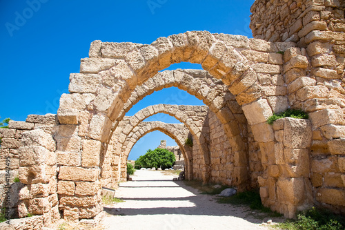 Leinwandbild Motiv Ruins of antique Caesarea. Israel.