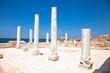 Marble pillars in Caesarea. Israel.