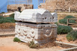 The Sarcophagus in Caesarea. Israel.