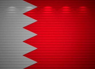 Bahraini flag wall, abstract background
