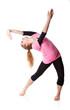 Woman is an acrobat