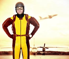 Professional parachutist