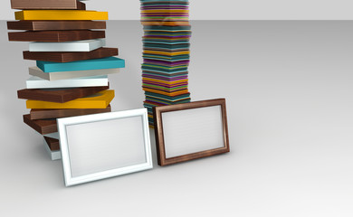 Colored frames with photos