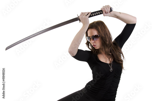 Young woman with katana (2)
