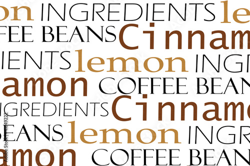 Coffee words background © oly5