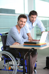 employee in wheelchair