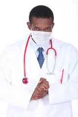 Doctor rubbing his hands
