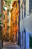 Fototapety Colorful narrow street in the Cinque Terre, Italy