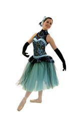 Elegant Ballerina in Romantic Length Costume