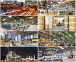 Collage von Industriepanoramen // industrial production