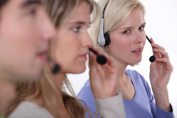 employees in call center