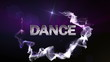 DANCE Text in Particle (Double Version) Blue - HD1080