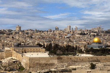 view of the old Jerusalem