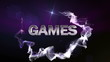 GAMES Text in Particle (Double Version) Blue - HD1080