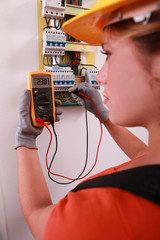Female electrical engineer
