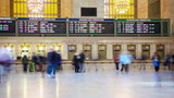 People moving in Grand Central Station time lapse, New York