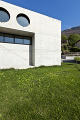 beautiful modern house in cement, outdoor, facade