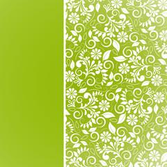 Floral, Muster, Hintergrund, Vorlage, Grün, abstrakt, Blätter