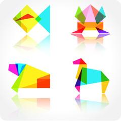 Origami animal vector illustration