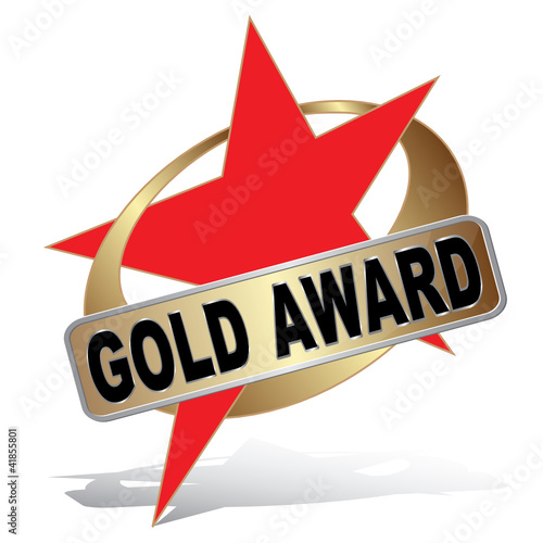 STAR ROUND GOLD AWARD ICON