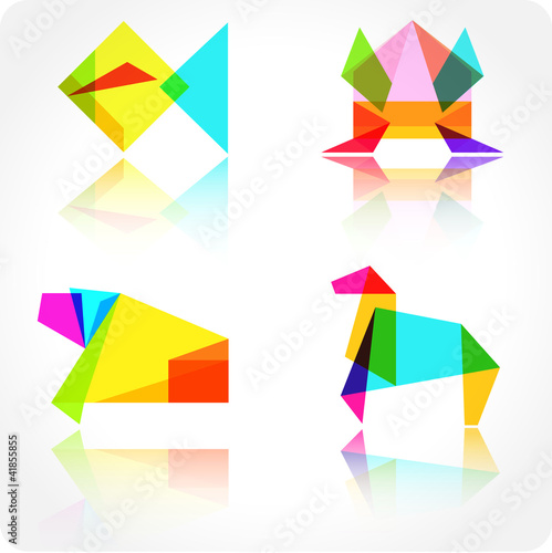 Origami animal vector illustration