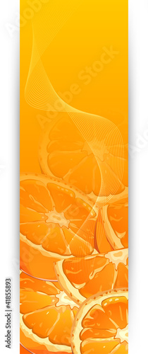 Banners with oranges