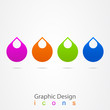 graphic design logo droplet.