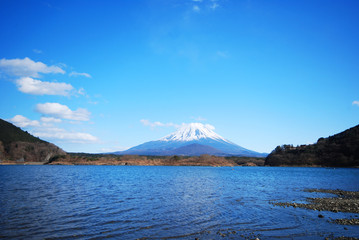 Blue sky and Mount Fuji