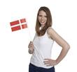 Female Fan shows danish flag