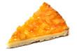 Stück Pfirsichkuchen
