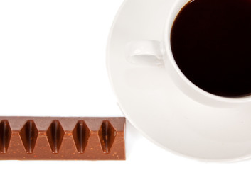 Coffee and chocolate in silver wrapper