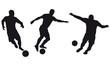 Serie Fussballspieler in Action