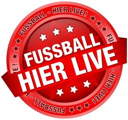 "Button ""Fussball-hier live"" rot"