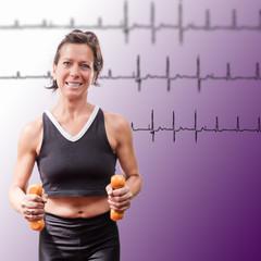 Hantellauf mit EKG