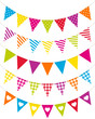 5 Seamless Festoons Curve Different Pattern Colour