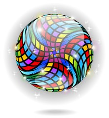 Globo Cristallo Psichedelico-Psychedelic Crystal Globe-Vector